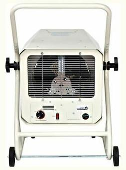 240-Volt Hardwired Garage Heater with Cart and Adjustable Th