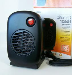 Soleil 250 Watt Personal Electric Ceramic Desktop Heater Por