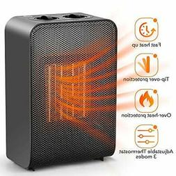 Ceramic Space Heater Office Home - Electric Heaters Portable
