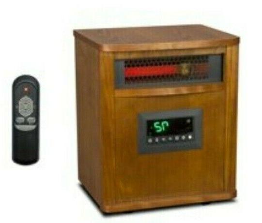 1500w 6 element infrared heater with oak