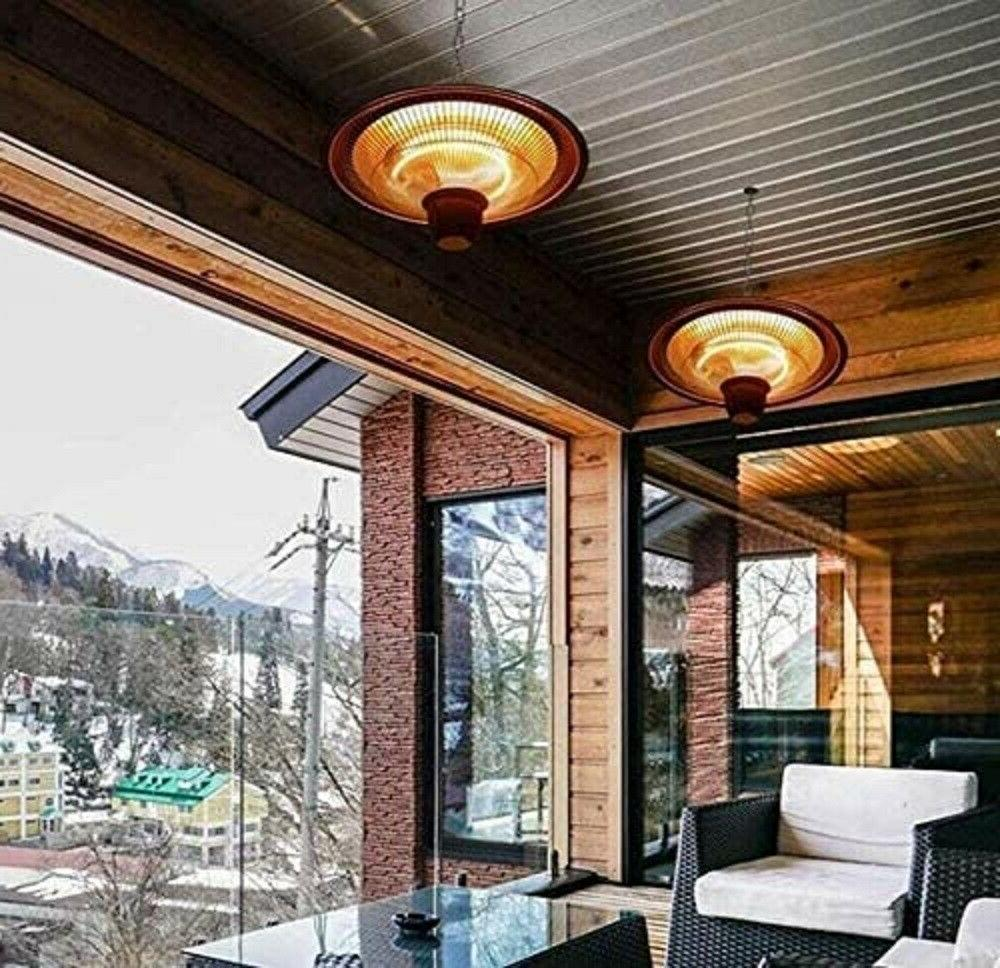 1500W Electric Patio Heater Outdoor Ceiling Mount Balcony