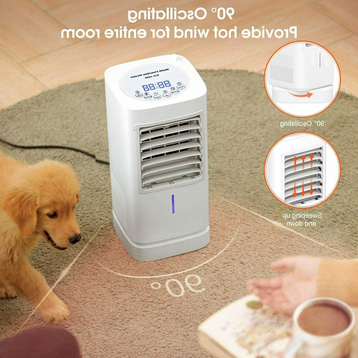1500W Portable Space Fan, Thermostat Heater