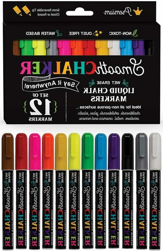 chalk markers set for chalk boards glass
