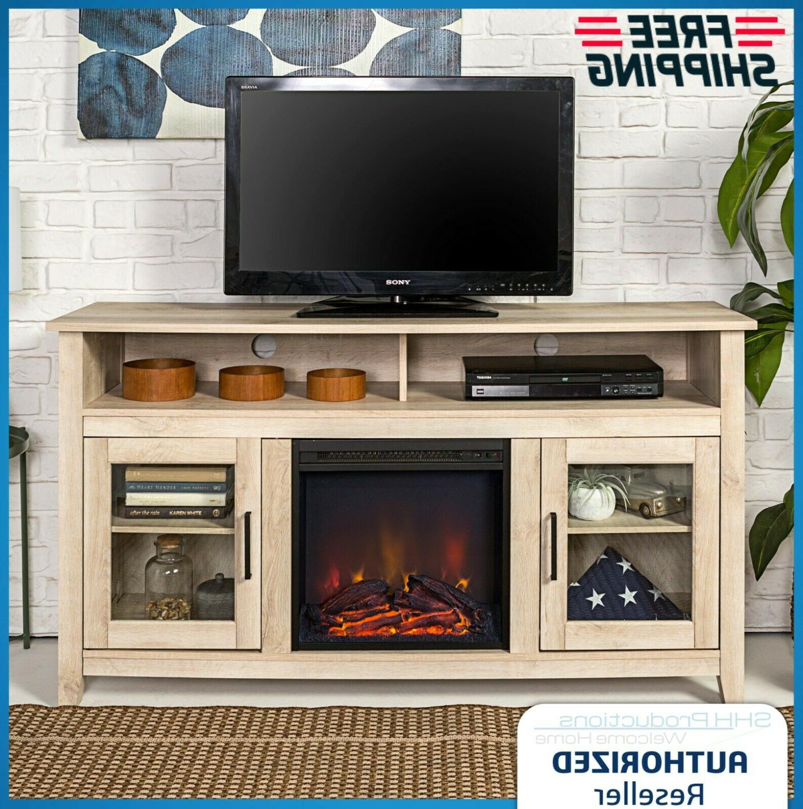electric fireplace heater 70 tv stand entertainment