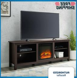 "Modern Electric Fireplace Entertainment Center Console 70"" T"