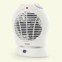 Oscillating White Electric Space Heater Fan With Adjustable