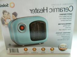 Soleil Personal Ceramic Mini Heater 250W Indoor Light Blue M