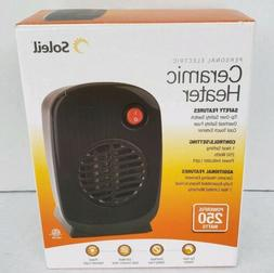 Soleil Personal Electric Portable Space Ceramic Heater 250 W