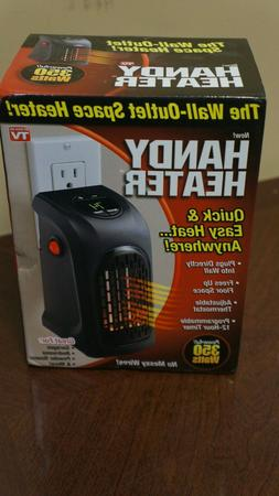 Handy Heater Plug-In THE WALL OUTLET SPACE HEATER 350 WATTS