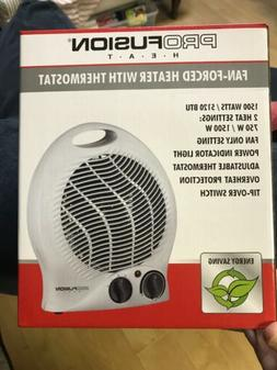 Profusion Fan Forced Heater With Thermostat New In Box Elect